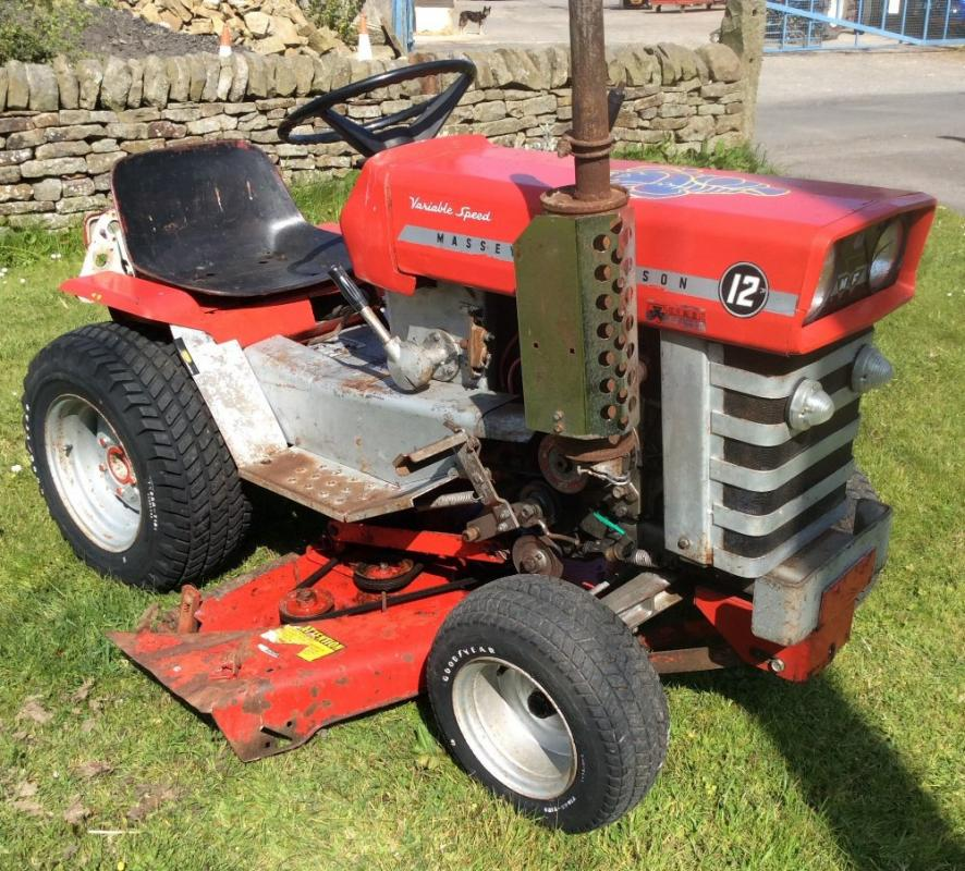 Cyclone Rake For Sale >> MASSEY FERGUSON 12 LAWN TRACTOR With mower deck - Current ...