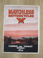Matchless Motorcycles Clubman & Tourist Models for 1936, 16pp illustrated catalogue