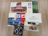 Simca, Reliant, AC, MG, 6 car brochures t/w a fold out poster of a Lagonda