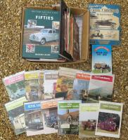 Qty vintage motoring books and booklets to inc' 13no. Shire series books