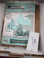 Motorcycle re-published roadtests 1940-1965, a qty