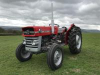 1967 MASSEY FERGUSON 135 3cylinder diesel TRACTOR A well presented example, with fully reconditioned engine, new clutch and brakes c/w foot throttle, showing only 5,600hours. V5C is said to be available but not been presented