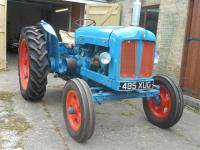 1953 FORDSON Major 4cylinder diesel TRACTOR Reg. No. 485 XUG Serial No. 1269947 Purchased in 2008, the owner acquired a dating certificate from NVTEC and successfully applied to the DVLA for an age related registration number. During 2008-2010 the tractor