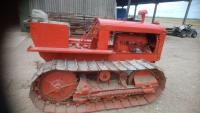 ALLIS CHALMERS Model M 4cylinder petrol/paraffin CRAWLER TRACTOR Fitted with drawbar. An earlier restoration