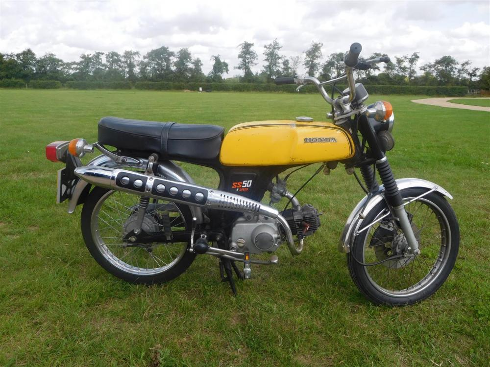 1977 49cc honda ss50 5 speed reg no tpw 290r frame no. Black Bedroom Furniture Sets. Home Design Ideas