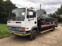 1995 DAF 45 130 Turbo 7.5ton 21ft beavertail Reg. No. M648 DGH Chassis No. XLRAE45CEOL130412 Fitted with an electric winch, the vendor informs us that the DAF both runs and drives well and is offered for sale with current MOT valid until April 2018 and V5