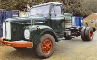 1967 Scania Vabis L76 4x2 chassis cab Reg. No. GEY 740E Chassis No. 435789 This bonneted Scania is fitted with a 6 cylinder diesel engine, PTO unit and pipes in cab and has been recently restored and painted. The vendor states that it starts, runs and dri