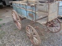 Horse drawn market traders wagon, in original unrestored order and on eliptical leaf springs all round