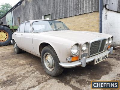 c1973 2800cc Daimler Sovereign Automatic Reg. No. VWC 465L (Expired) Chassis No. 1T3640BW A time warp machine that was last on the road in 1982, in dry storage ever since it has only just surfaced following the owners death. With just 18,188 miles from ne