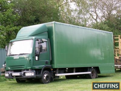 2005 Ford Iveco Euro Cargo 75EA Removals Lorry Reg. No. NX55 EOO Chassis No. ZCFA75CO202461860 The 7.5t lorry has been last used in February of this year after several trips to Spain, the vendor reports that it is a low mileage example with a clean cab. T