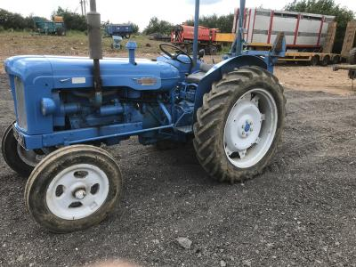 1960 FORDSON Power Major 4cylinder diesel TRACTOR Reg. No. 229 LBH Serial No. 1531294 Sold new to the late Eric Chokes of Leighton Buzzard from Oliver's of Luton then sold in 2002 at Chokes dispersal sale to the present owner and dry stored for the last 1