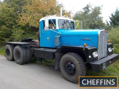 1964 Kenworth L924 RH 6x4 tractor unit Reg. No. BKU 94B Serial No. 82533 A right hand drive example that is stated to run and drive well with good tyres and a clean and tidy interior. Fitted with a Cummins diesel engine and registered as a historic vehicl