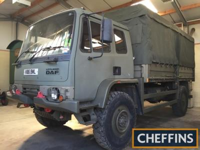 1993 LEYLAND DAF 4tonne GS 4x4 dropside Reg. No. K86 BWLChassis No. XLR52D39D0L115228Stated to be in excellent all round condition this ex-army 4x4 DAF has been regularly exhibited at rallies since 2005 and is fitted with a Cummins 7ltr turbocharged engin