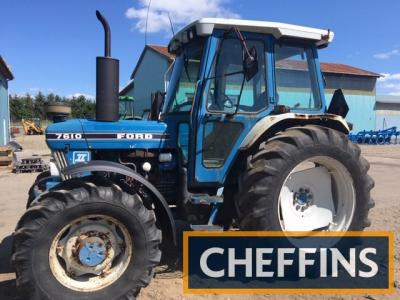 FORD 7610 diesel TRACTORSerial No. BA83135Fitted with New Holland Powerstar turbo engine, PUH, hydraulic trailer brake and new clutch fitted on 16.9-38 Goodyear rear and 420/70-24 Taurus front wheels and tyres