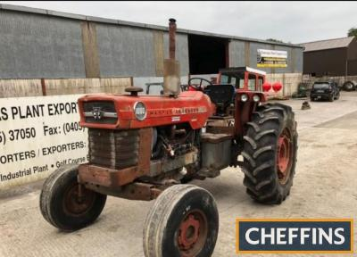 1970 MASSEY FERGUSON 1080 TRACTORStated to be in good working order and still bearing it's original paint, this 1080 is fitted with 3pt hitch, drawbar and PTO