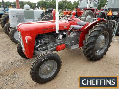 1960 MASSEY FERGUSON 35 3cylinder diesel TRACTOR Reg. No. VCJ 522 (expired) Serial No. SNM175103 Standing on 12.4x28 rear and 6.00x16 front wheels and tyres, this tractor has been fitted with new injectors, reconditioned pump, new full clutch pack, new wh