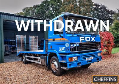 WITHDRAWN 1999 ERF EC6 Beavertail Reg. No. TBA* Chassis No. SAF18C2RD05091215 The flatbed beavertail is liveried in blue and is fitted with drop down ramps, the cab roof is adorned with a beacon bar and air horns. Currently on SORN and offered for sale wi