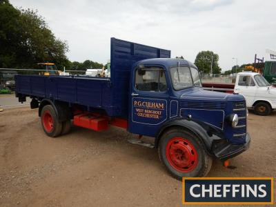 1952 Bedford O Type flatbed Lorry Reg. No. XSJ 630 Chassis No. OLBC Z42890 Presented in blue this O type is recorded as having been first registered in 1967 although of a 1952 vintage but has been awarded an age related plate in 1999 reflecting its true a