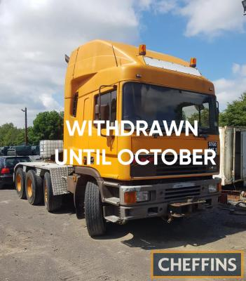 WITHDRAWN, ENTERED INTO OCTOBER AUCTION 1995 ERF EC14.50TD4 8x4 200t 5th wheel artic' tractor unit Reg. No. DIG 5258 Chassis No. 79435 Engine No. 2323553