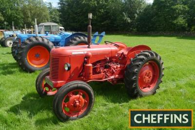 1956 DAVID BROWN 25C 4cylinder petrol/paraffin TRACTOR Reg. No. SAO 832 Serial No. 19330 Fitted with front lights, rear linkage, drawbar, belt pulley and electric start on 12.4/11-28 rear on 6.00-19 front wheels and tyres. V5 available