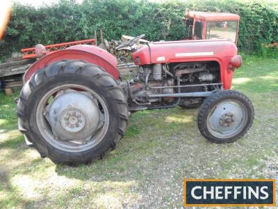 1961 MASSEY FERGUSON 35 4cylinder petrol TRACTOR Serial No. SHF226725 Fitted with a recent engine rebuilt by a professional Massey Ferguson mechanic, an uncommon high altitude (H) engine and although not photographed, will be fitted with Goodyear diamond