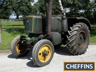 1950 SF VIERZON 302 single cylinder diesel TRACTOR Serial No. 5140 Fitted with 5 forward and 1 reverse gears, rear wheel weights, PTO, new rear tyres, re-lined rear brakes and new injectors. The vendor reports an easy starting and smooth running original