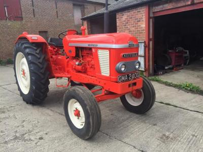 1968 NUFFIELD 4/65 4cylinder diesel TRACTOR Reg. No. GMA 240G Serial No. 6SN117535 Fitted with rear linkage, swinging drawbar on good tyres all round. Stated by the vendor to be fully restored with V5 available.