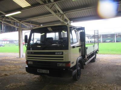 1996 LEYLAND DAFF 45 130 Turbo 2 axle rigid with 20ft body, beavertail, ramps and winch Reg. No. N843 LGC This vehicle is fitted with an alloy body with sideboards which has recently been refurbished with new cross members and flooring. The recorded milea