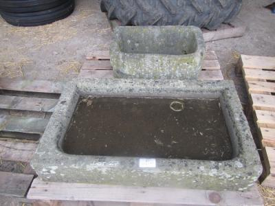 A stone trough and a stone sink