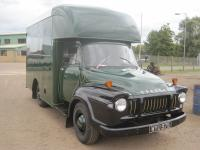 1959 Bedford J1 Luton bodied box van Reg No. WYU 975 Chassis No. J12215235 An older restoration finished in green with pin striping to the panels, the interior in good restored order, finished in green and consigned from dry storage, driven to the sale. V