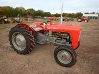 1963 MASSEY FERGUSON 35X 3cylinder diesel TRACTOR Reg. No. 964 GVD Serial No. SNMY344106 Purchased by the present owner some two years ago after a period of restoration. 964 GVD completed a road run following which it has been dry stored. Shortage of spac