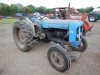 1961 FORDSON Super Major 4cylinder diesel TRACTOR Reg. No. 377 AFW Serial No. 1613175 Reported to be largely original with new mudguards and original paintwork. The old mudguards will be offered with the tractor. V5 available